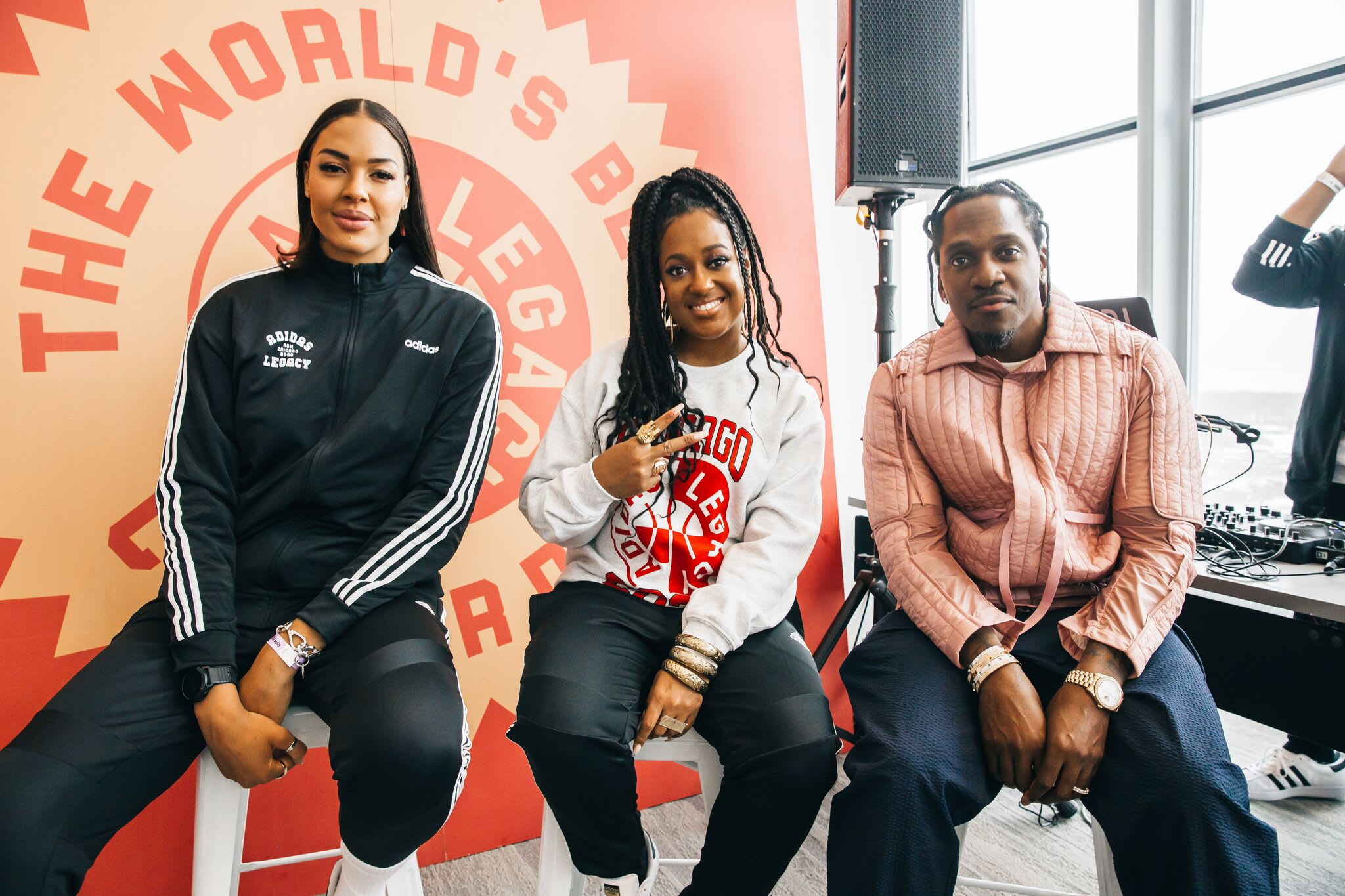 Adidas World's Best Career Day Liz Cambage Rapsody Pusha T