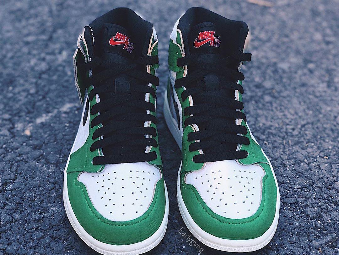 Air Jordan 1 Women's Lucky Green Release Date DB4612-300 Front