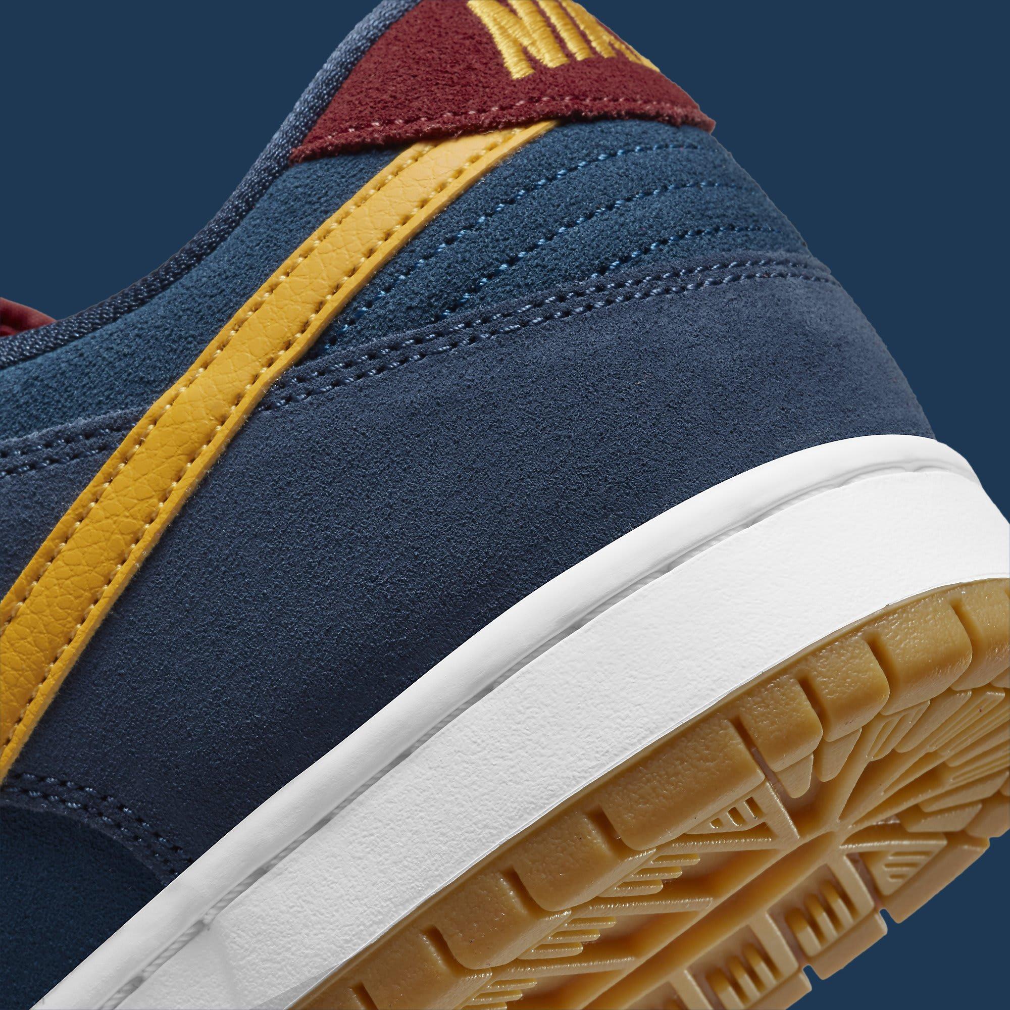 Nike SB Dunk Low Barcelona Release Date DJ0606-400 Heel Detail