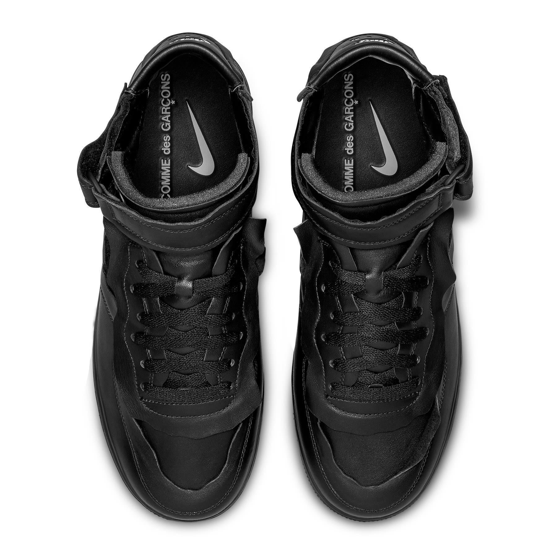 Comme Des Garcons x Nike Air Force 1 Mid 'Black' F/W 20 Top