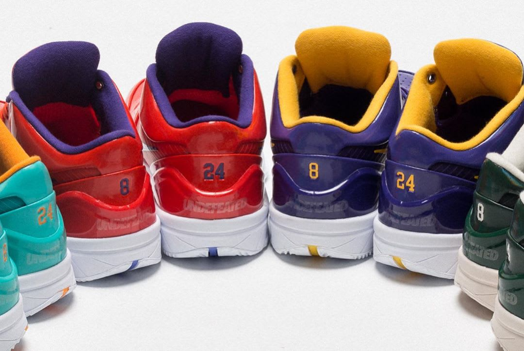 Undefeated x Nike Zoom Kobe 4 Protro Pack Releasing on Mamba Day