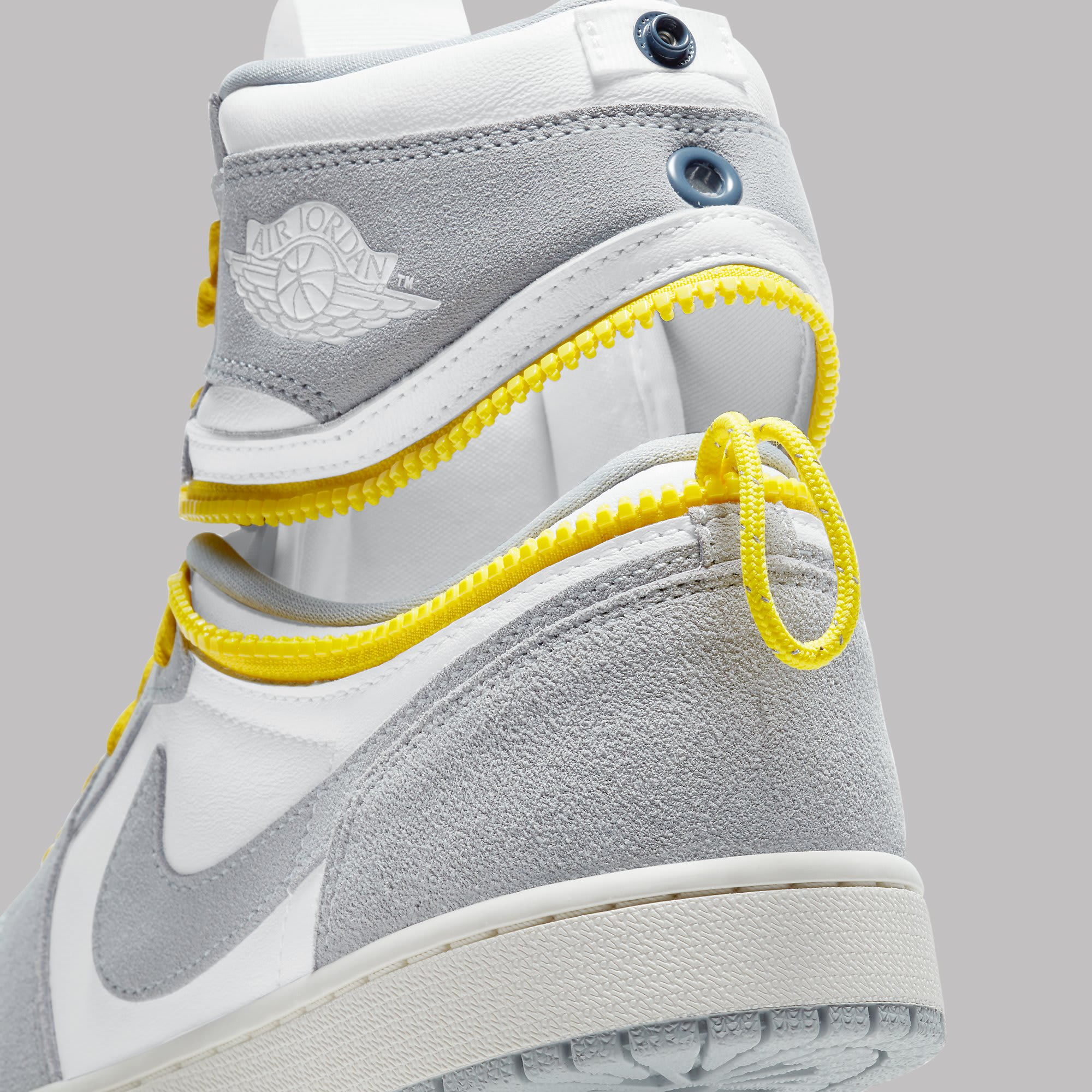 Air Jordan 1 High Switch White Light Smoke Grey Sail Tour Yellow Release Date CW6576-100 Unzipped