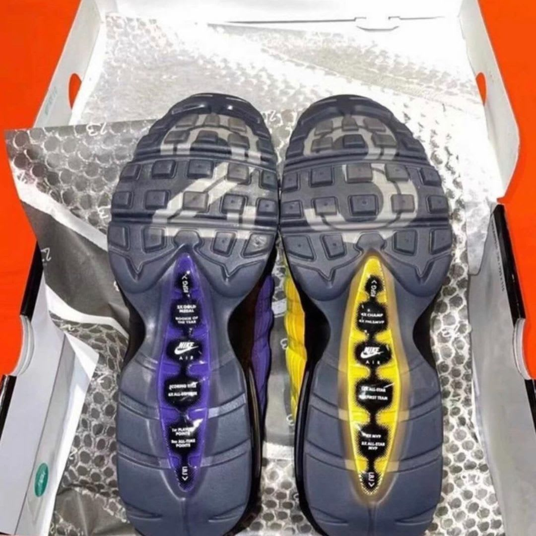 Nike Air Max 95 LeBron Lakers Release Date CZ3624-001 Sole