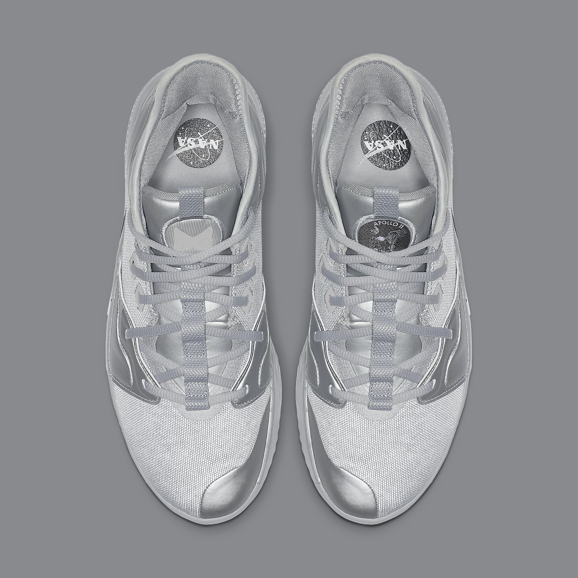 Nike PG 3 NASA Silver Release Date CI2666-001 Top