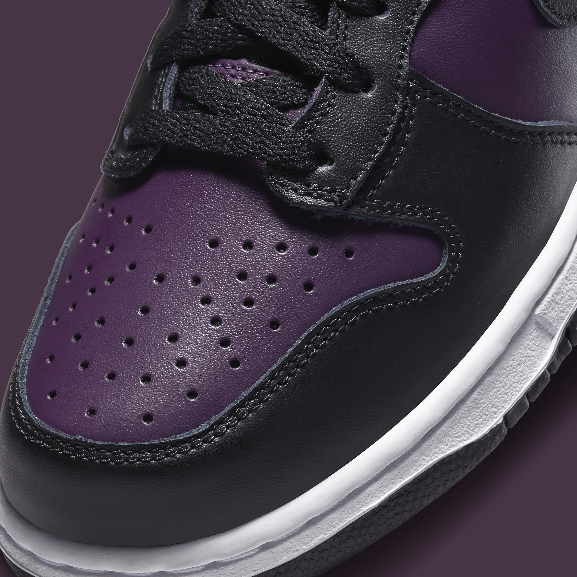 Fragment Design x Nike Dunk High 'Black' DJ0382-600 Toe