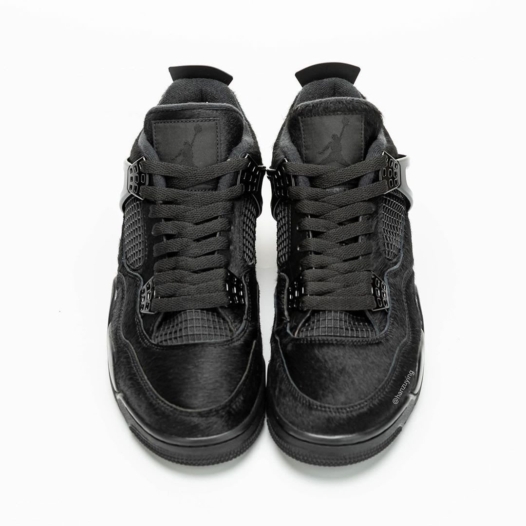 Air Jordan 4 Black Cat Pony Hair Release Date CK2925-001 Tongue