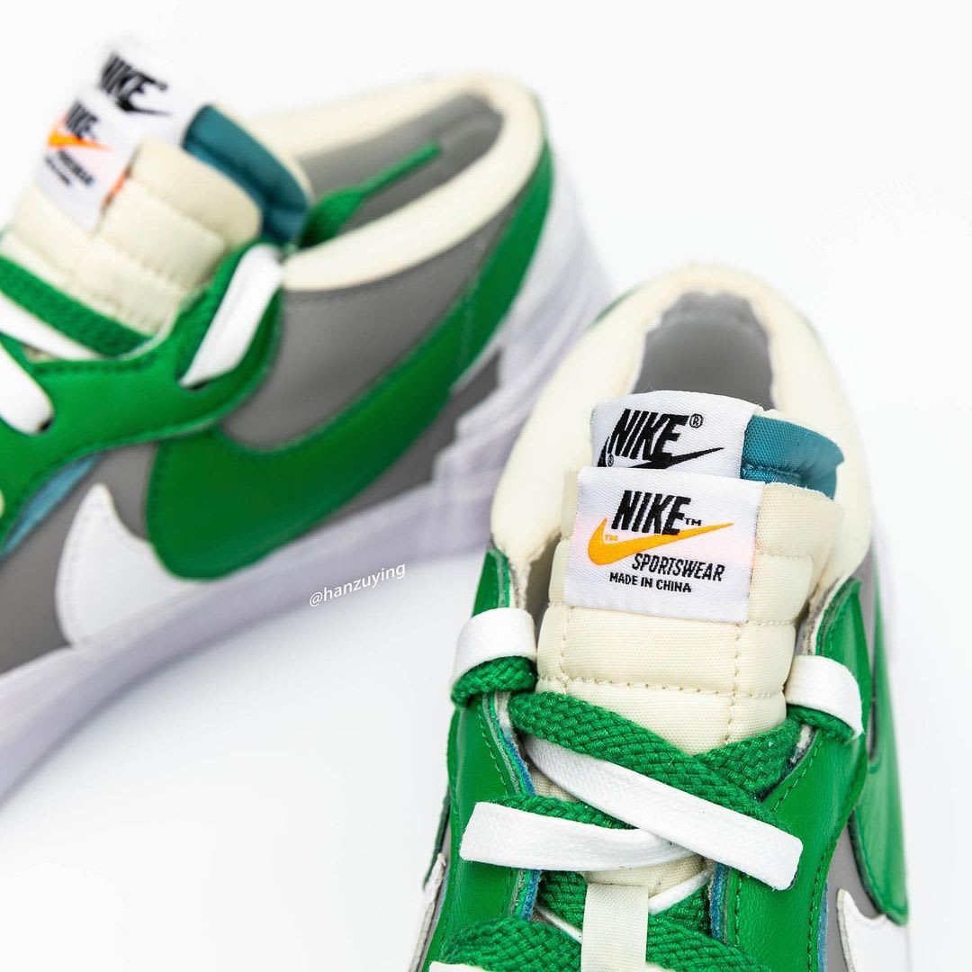 Sacai x Nike Blazer Low 'Classic Green' DD1877-001 Tongue