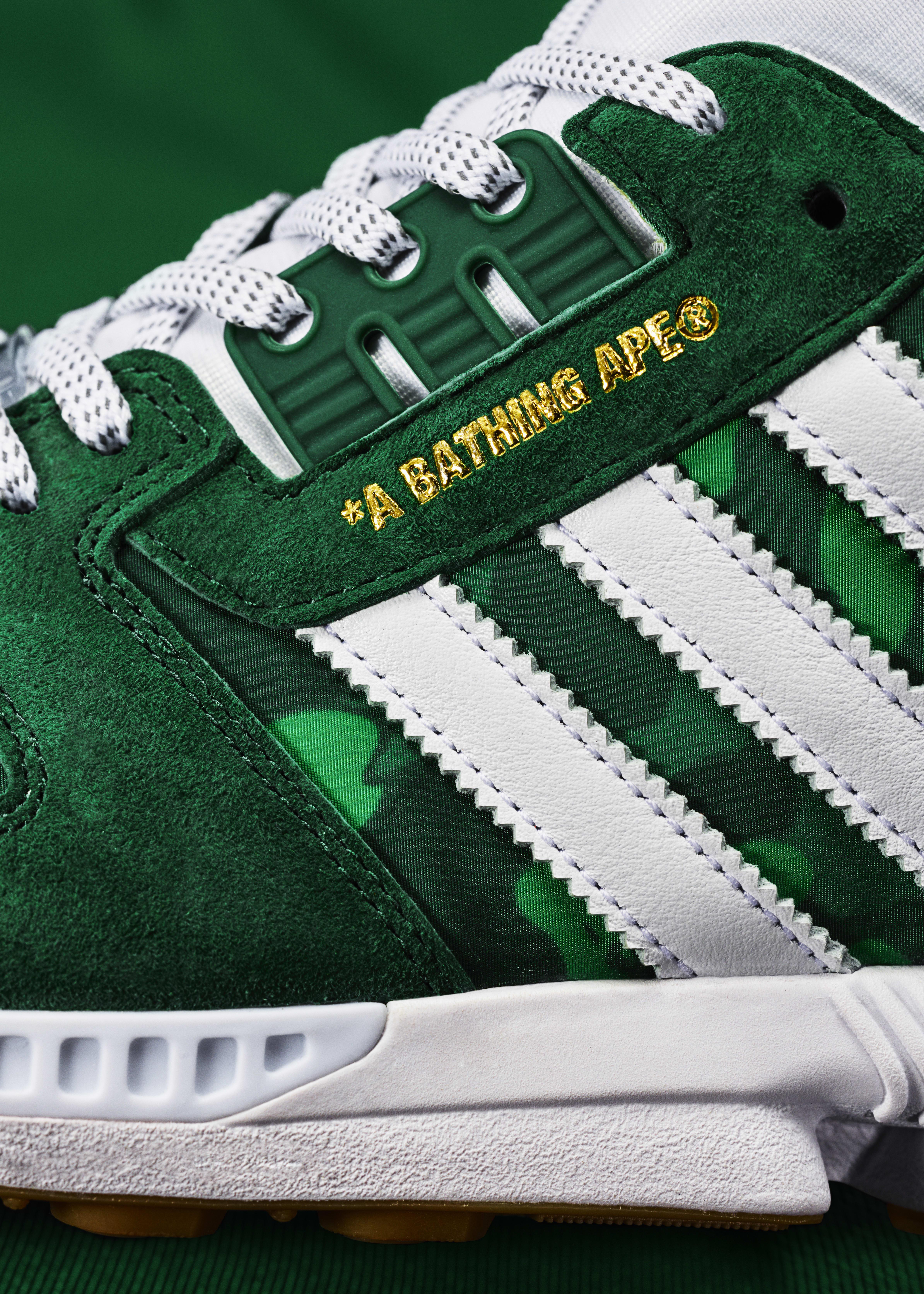 Bape x Undefeated x Adidas ZX 8000 FY8851 Side