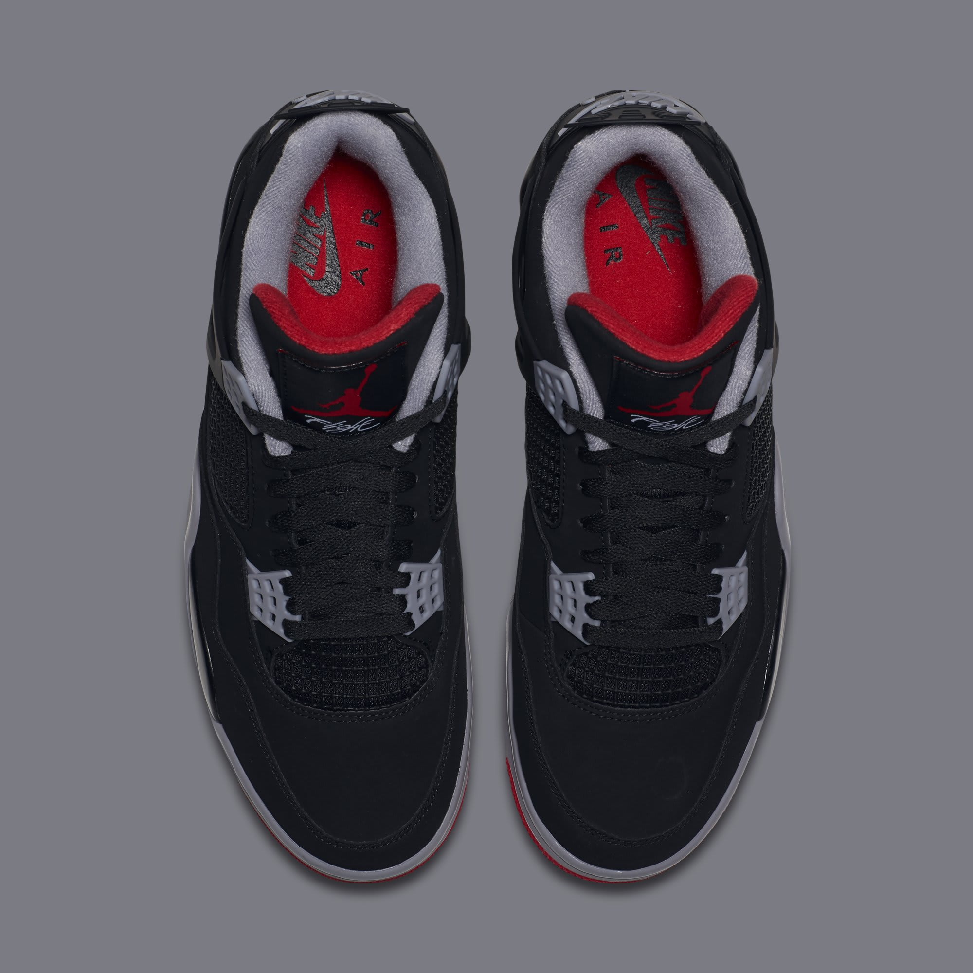 half off a9f26 507b5 Image via Nike Air Jordan 4  Bred  308497-060 (Top)
