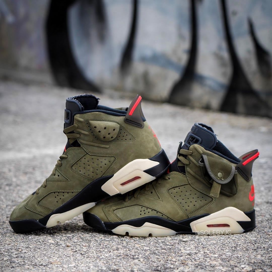 Travis Scott x Air Jordan 6 Release Date Side