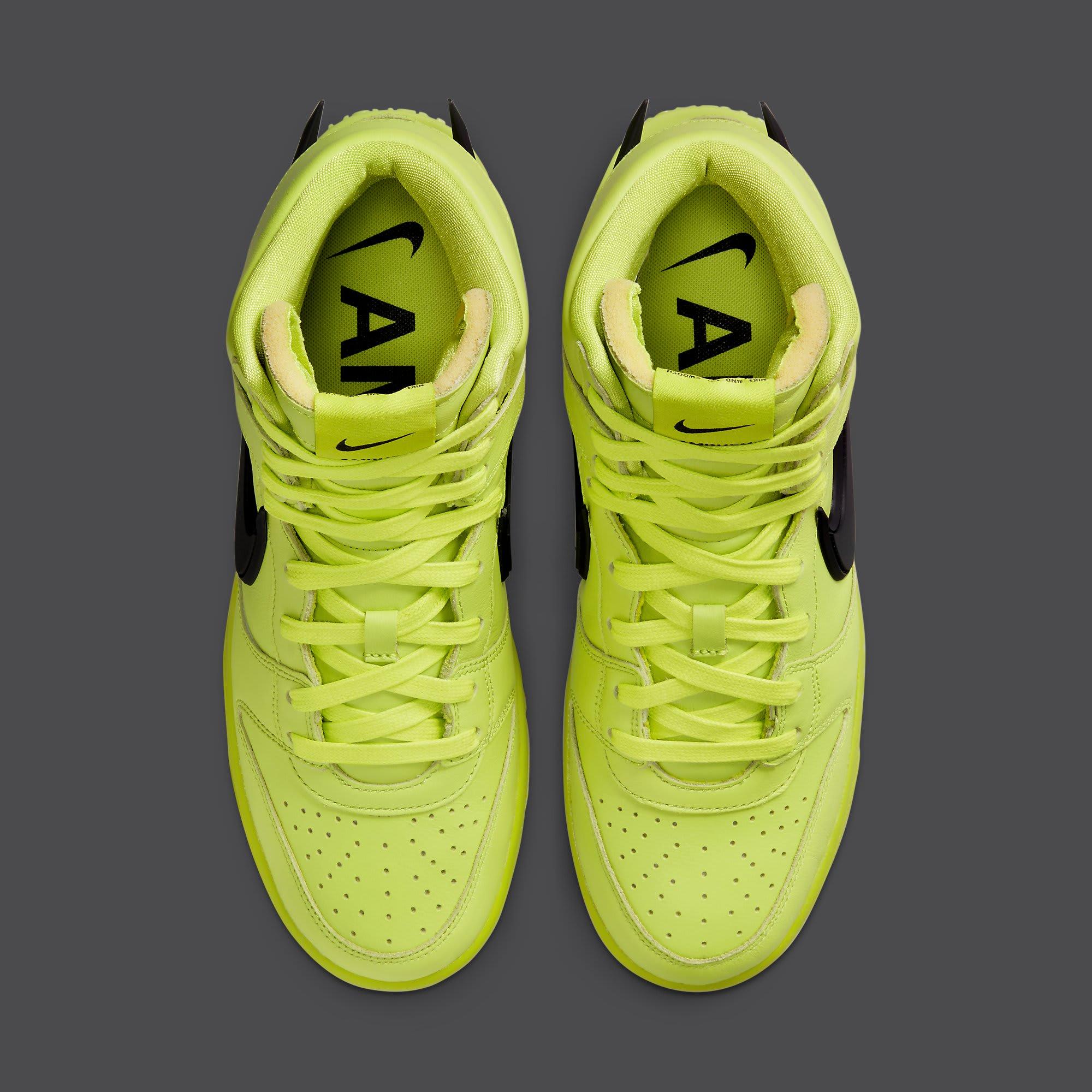 Ambush x Nike Dunk High Atomic Green Release Date CU7544-300 Top