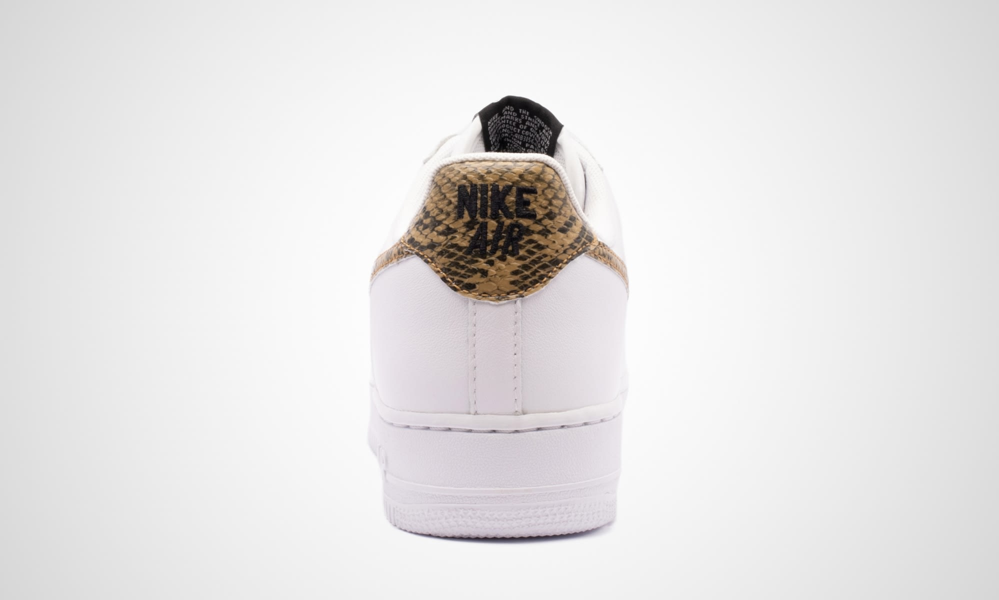 Nike Air Force 1 Low 'Ivory Snake' AO1635-100 (Heel)