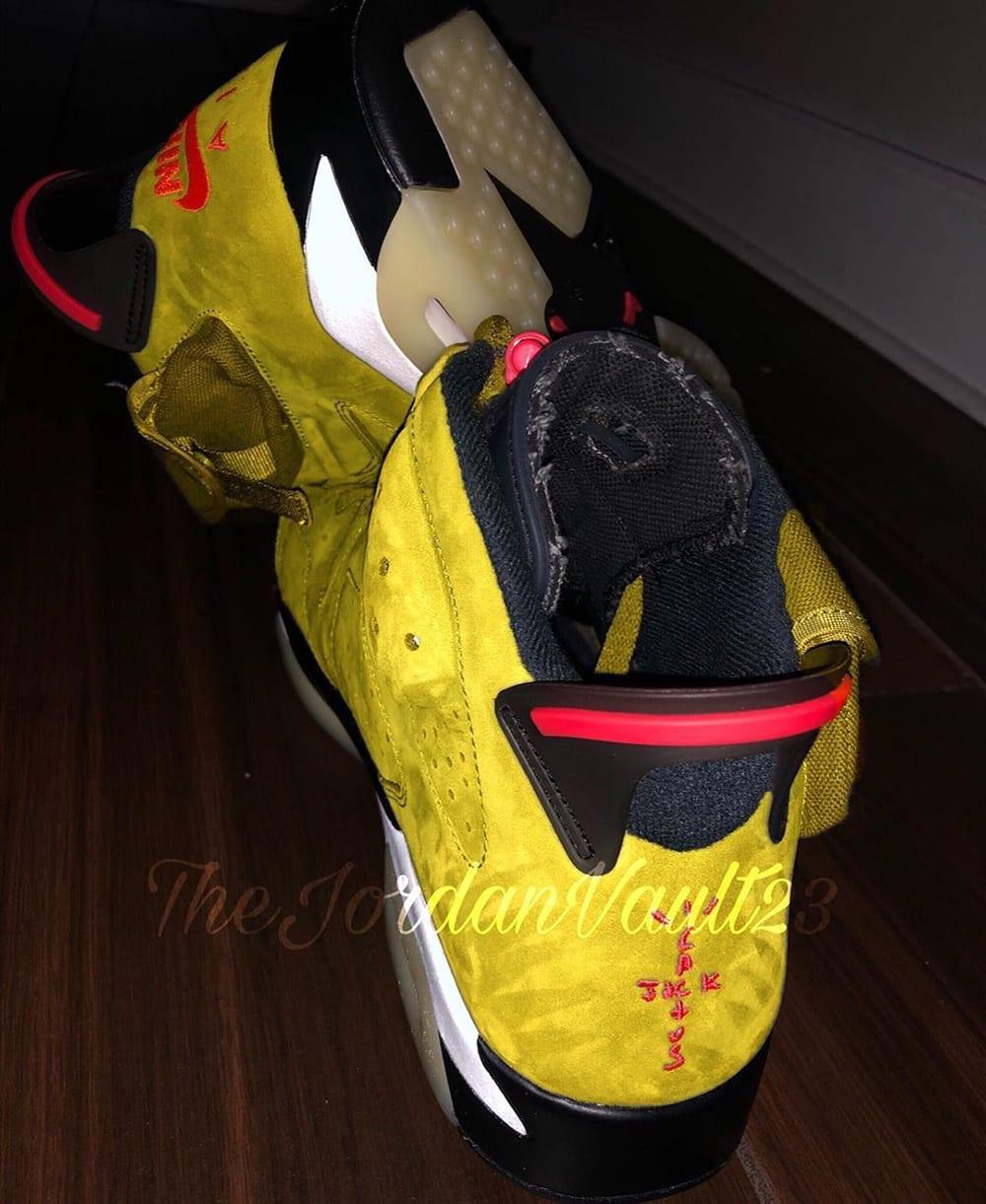 Travis Scott x Air Jordan 6 Mustard Release Date Sole