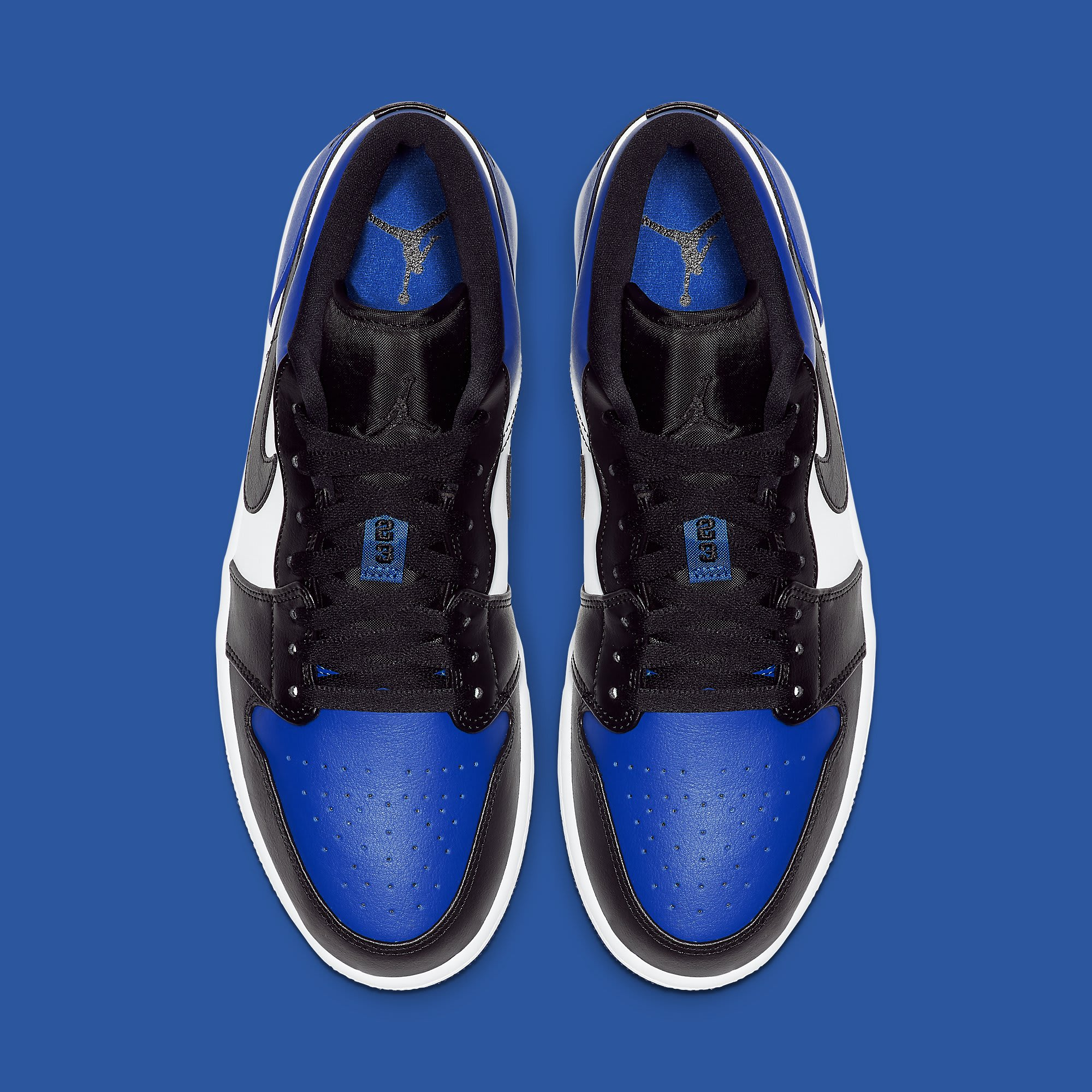 Air Jordan 1 Low Royal Toe Release Date CQ9446-400 Top