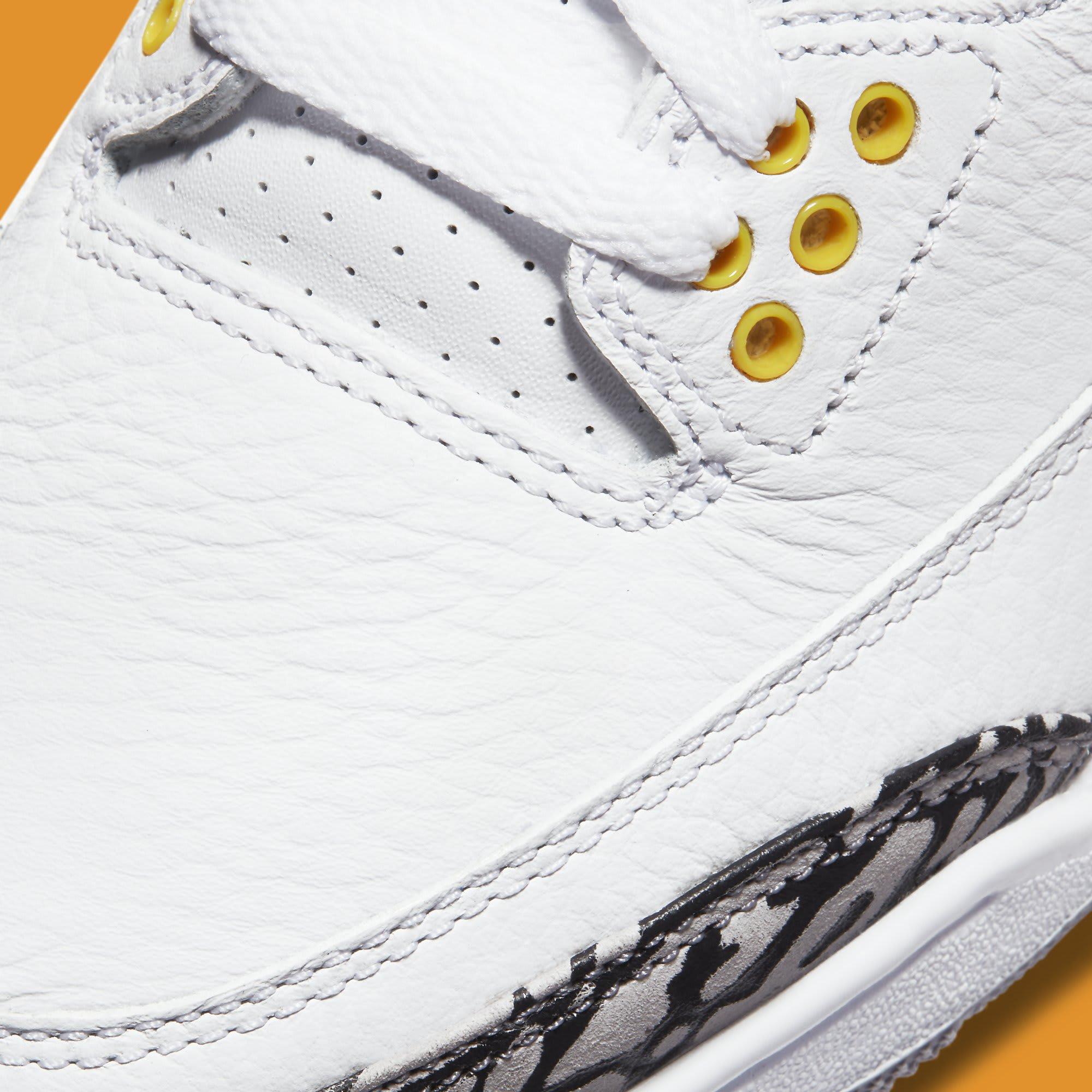 Air Jordan 3 III Laser Orange Release Date CK9246-108 Toe Detail
