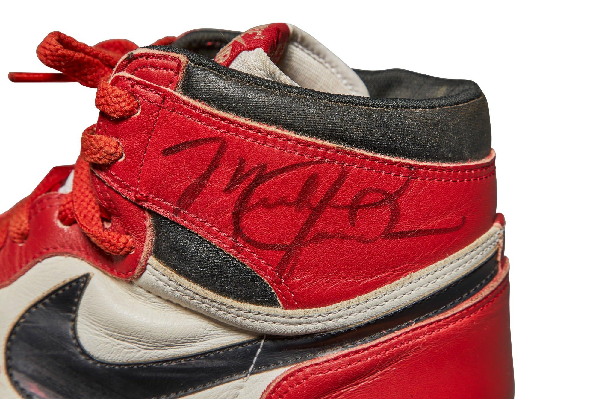 Michael Jordan Game Worn Autographed 1985 Air Jordan 1 High 'Chicago'
