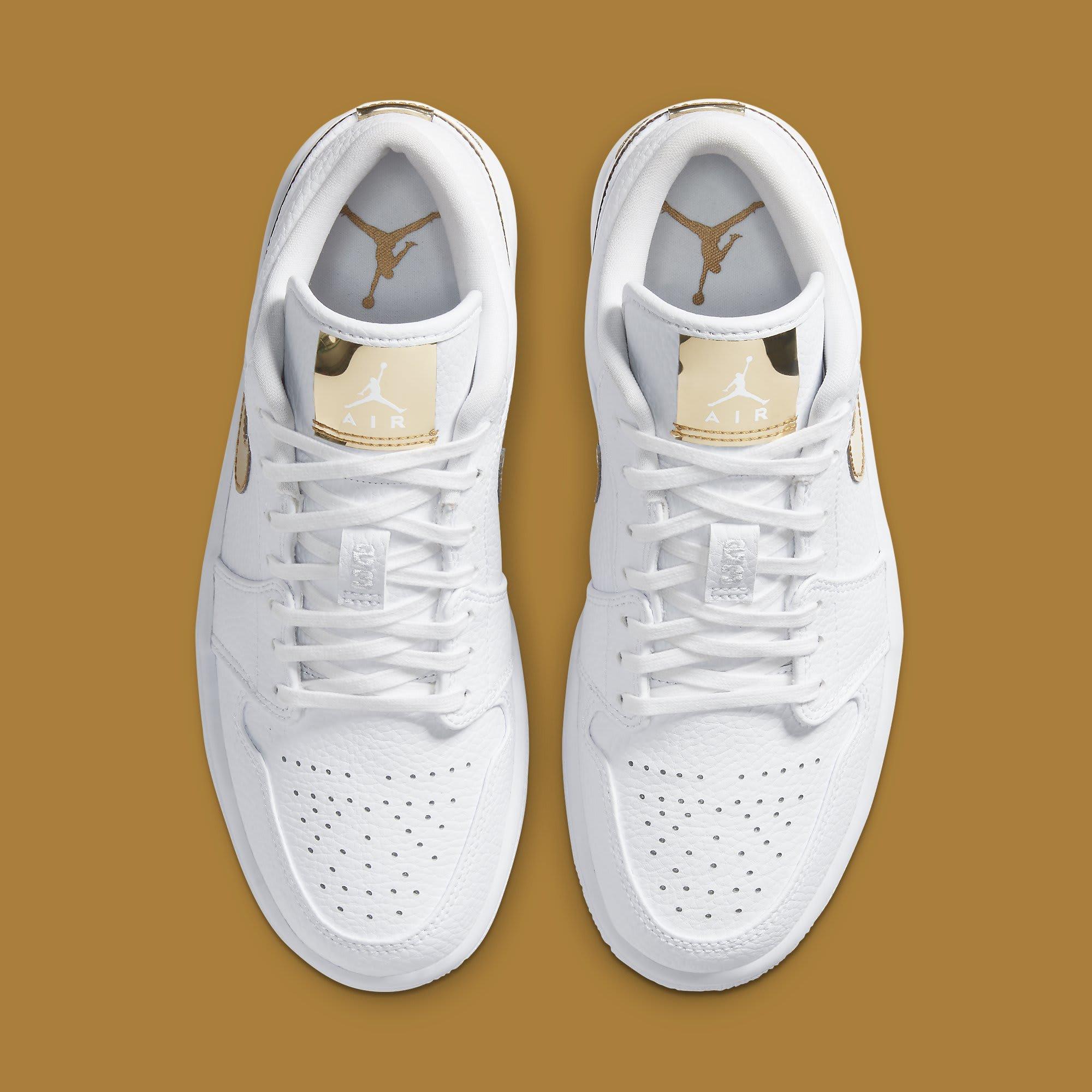 Air Jordan 1 Low White Metallic Gold Release Date CZ4776-100 ...