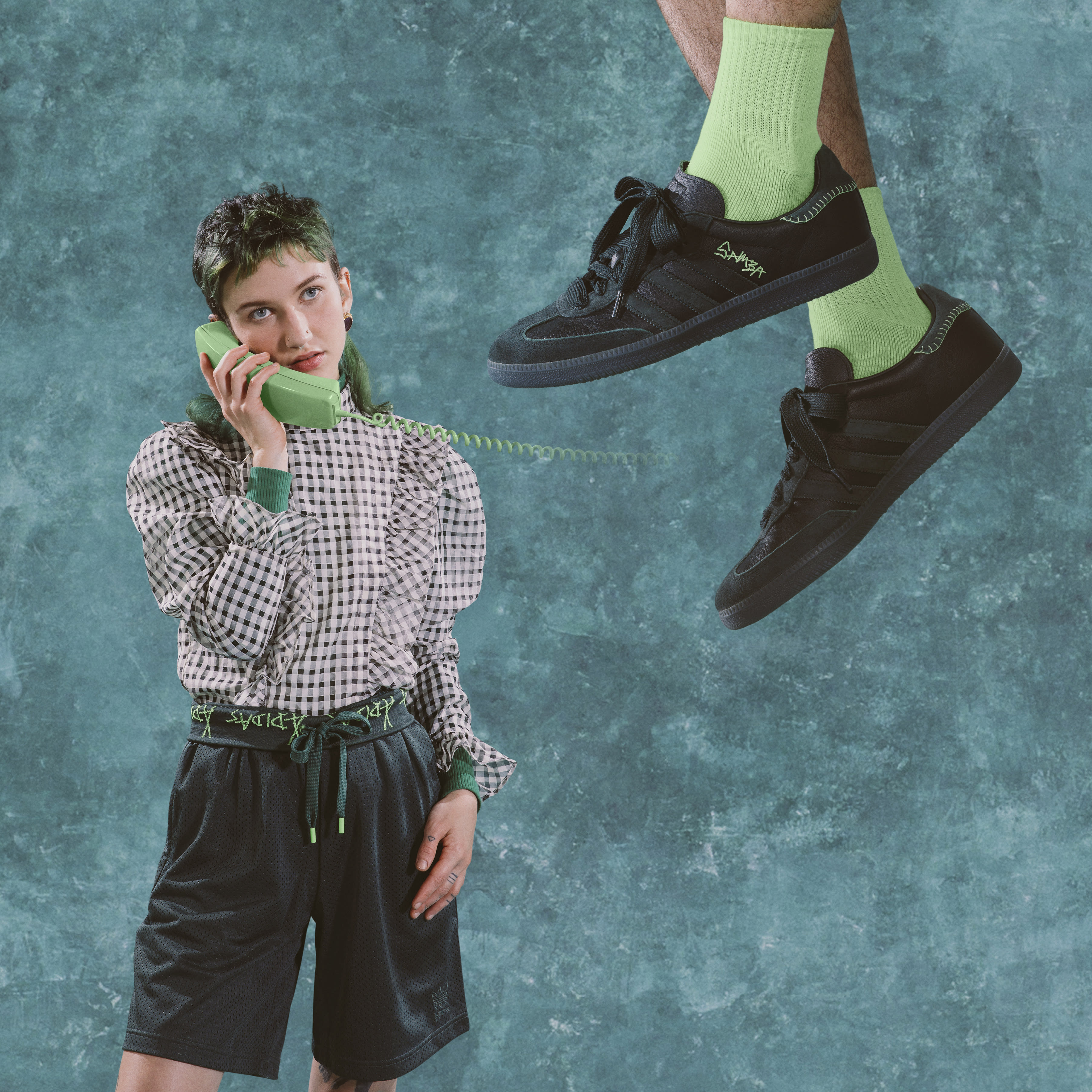 Jonah Hill x Adidas Samba Mineral Green