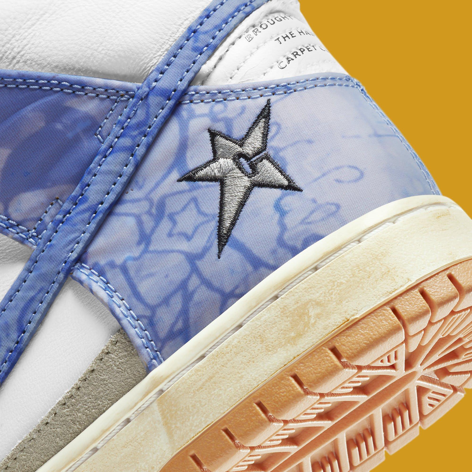Carpet Company x Nike SB Dunk High CV1677-100 Heel