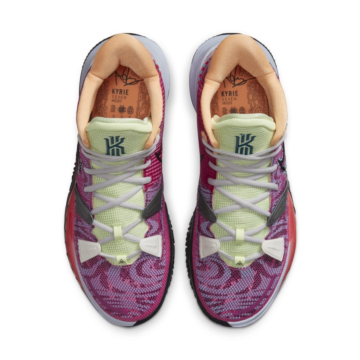 Nike Kyrie 7 Active Fuchsia/Black-Ghost-Multi-Color 'Hendrix' DC0588-601 Top