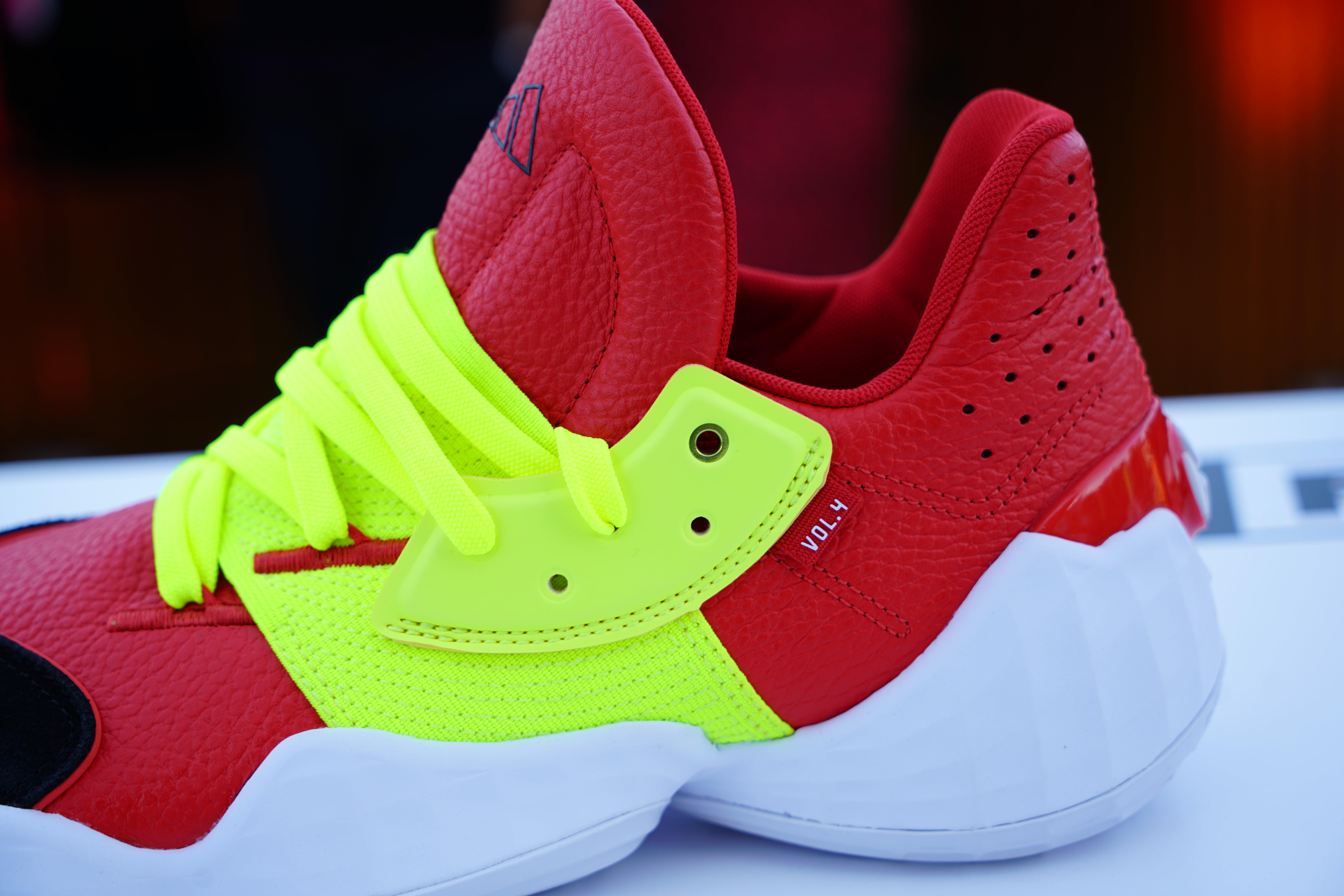 Adidas Harden Vol. 4 'Red/Neon'