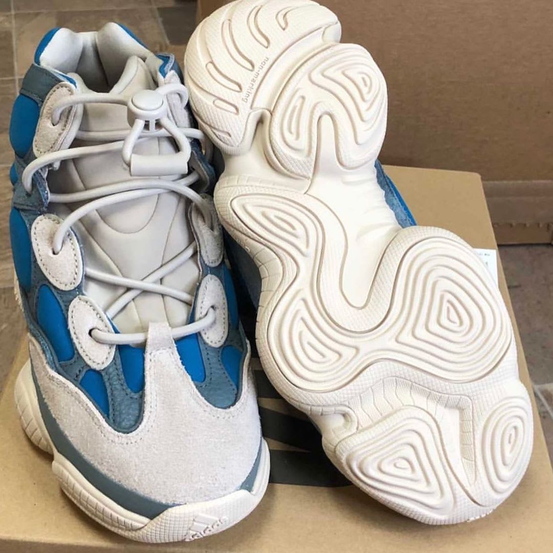 Adidas Yeezy 500 High Frosted Blue Release Date Sole