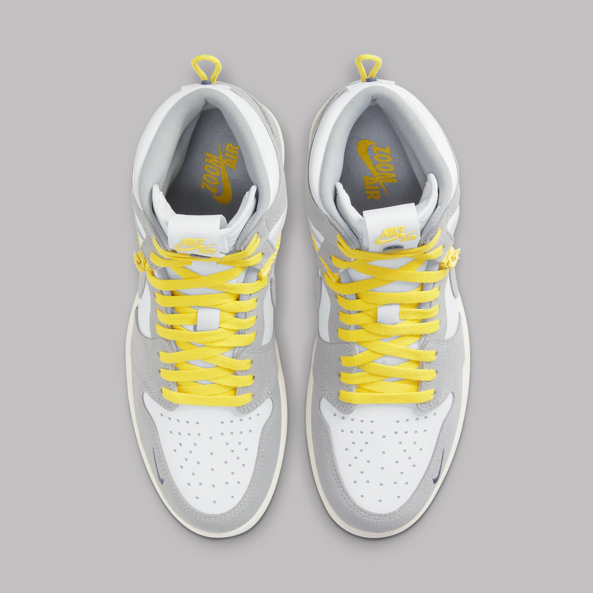 Air Jordan 1 High Switch White Light Smoke Grey Sail Tour Yellow Release Date CW6576-100 Top