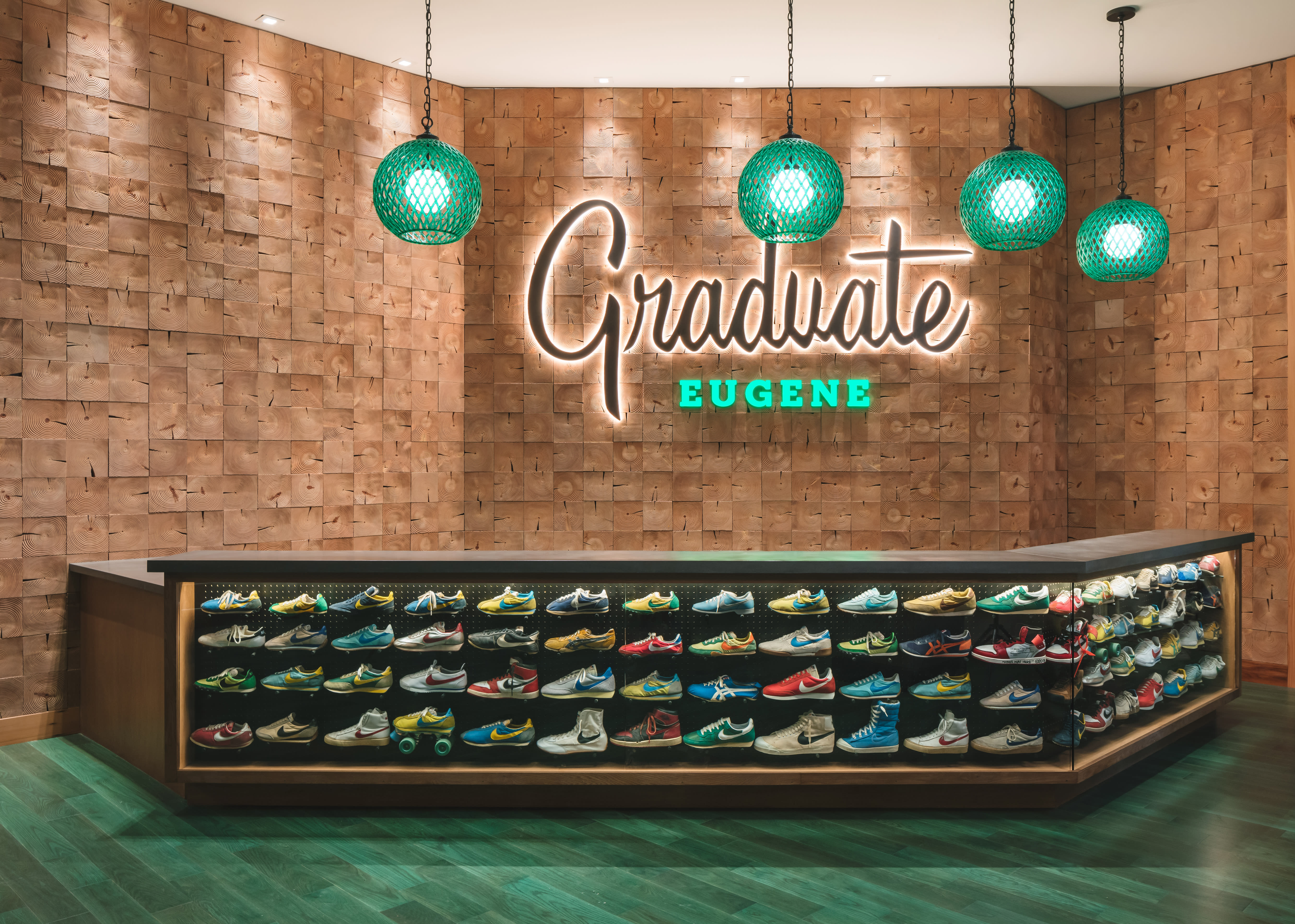 Graduate Hotel Eugene, Oregon Vintage Nike Display 1
