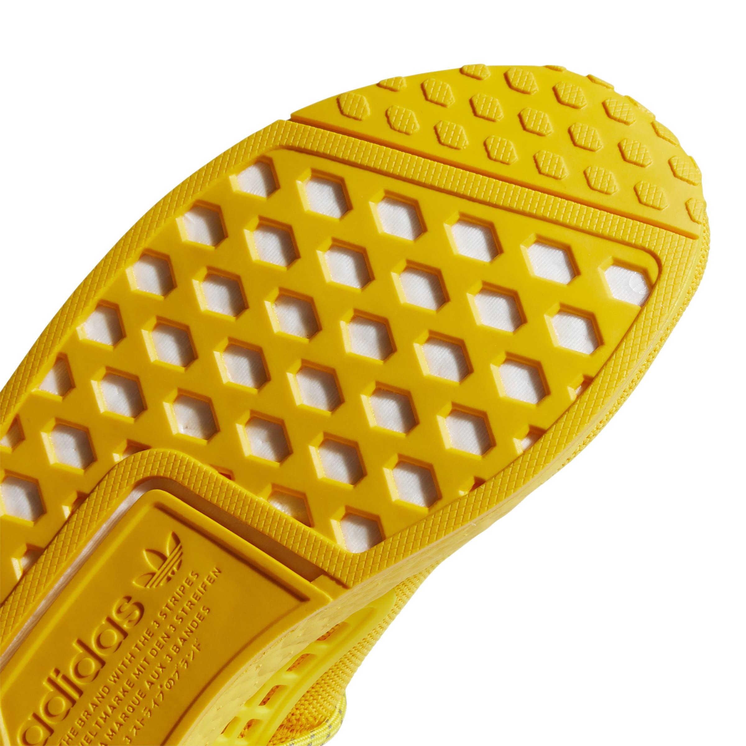 Pharrell x Adidas NMD Hu 'Yellow' GY0091 Outsole