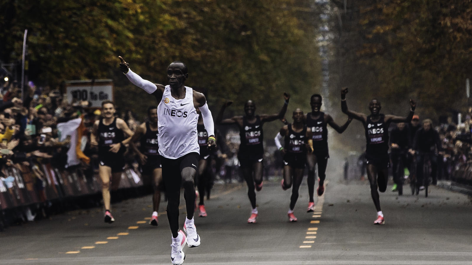 Eliud Kipchoge Wears the Nike Next% Prototype