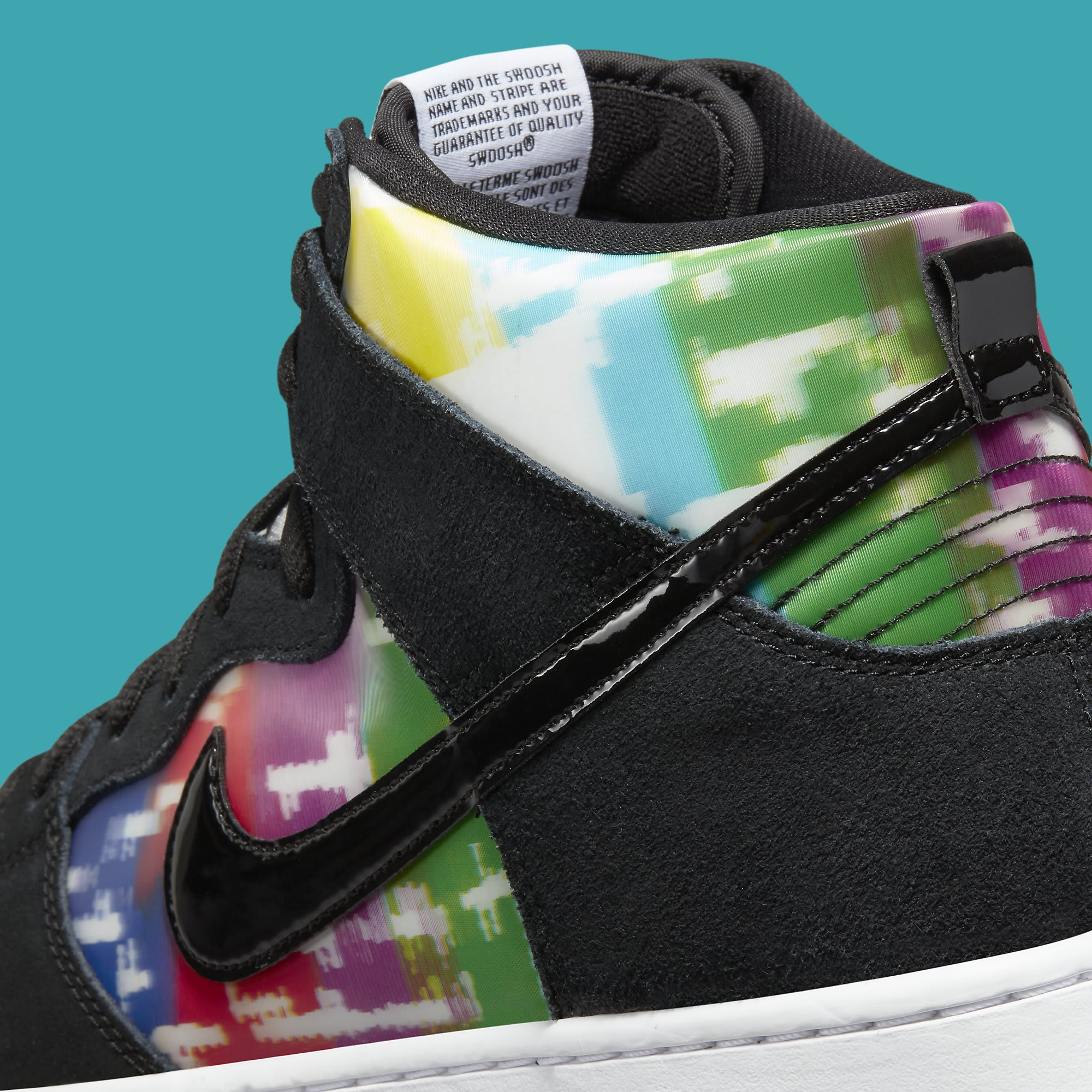 Nike SB Dunk High TV Signal Release Date CZ2253-100 Back Detail