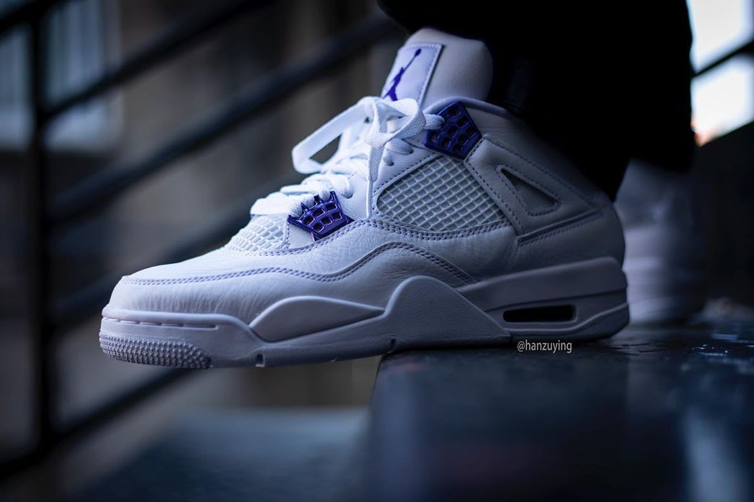 Air Jordan 4 Court Purple Release Date CT8527-115 On-Foot Profile