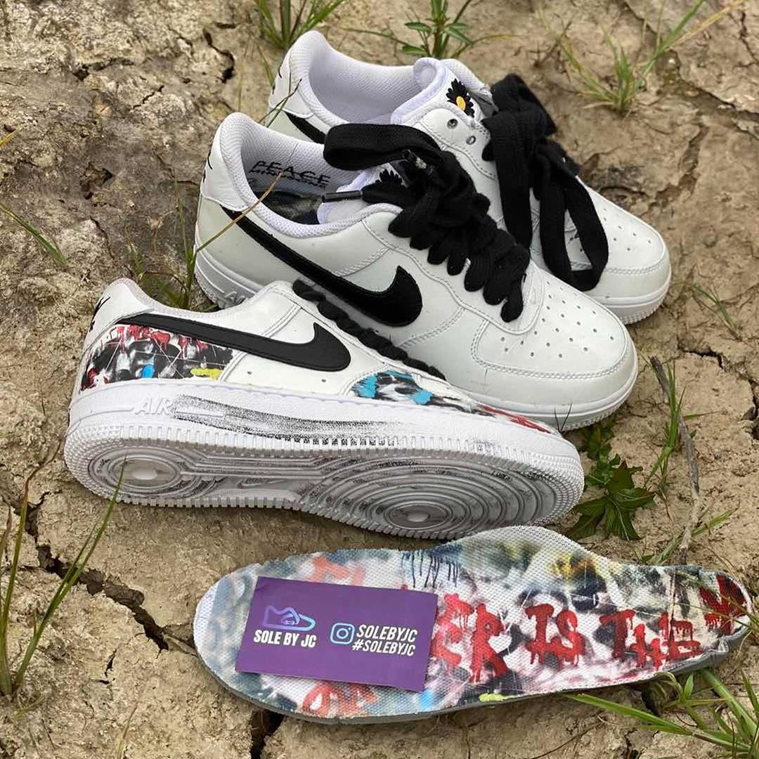 Peaceminusone x Nike Air Force 1 Low White Black Release Date DD3323-100 Lining