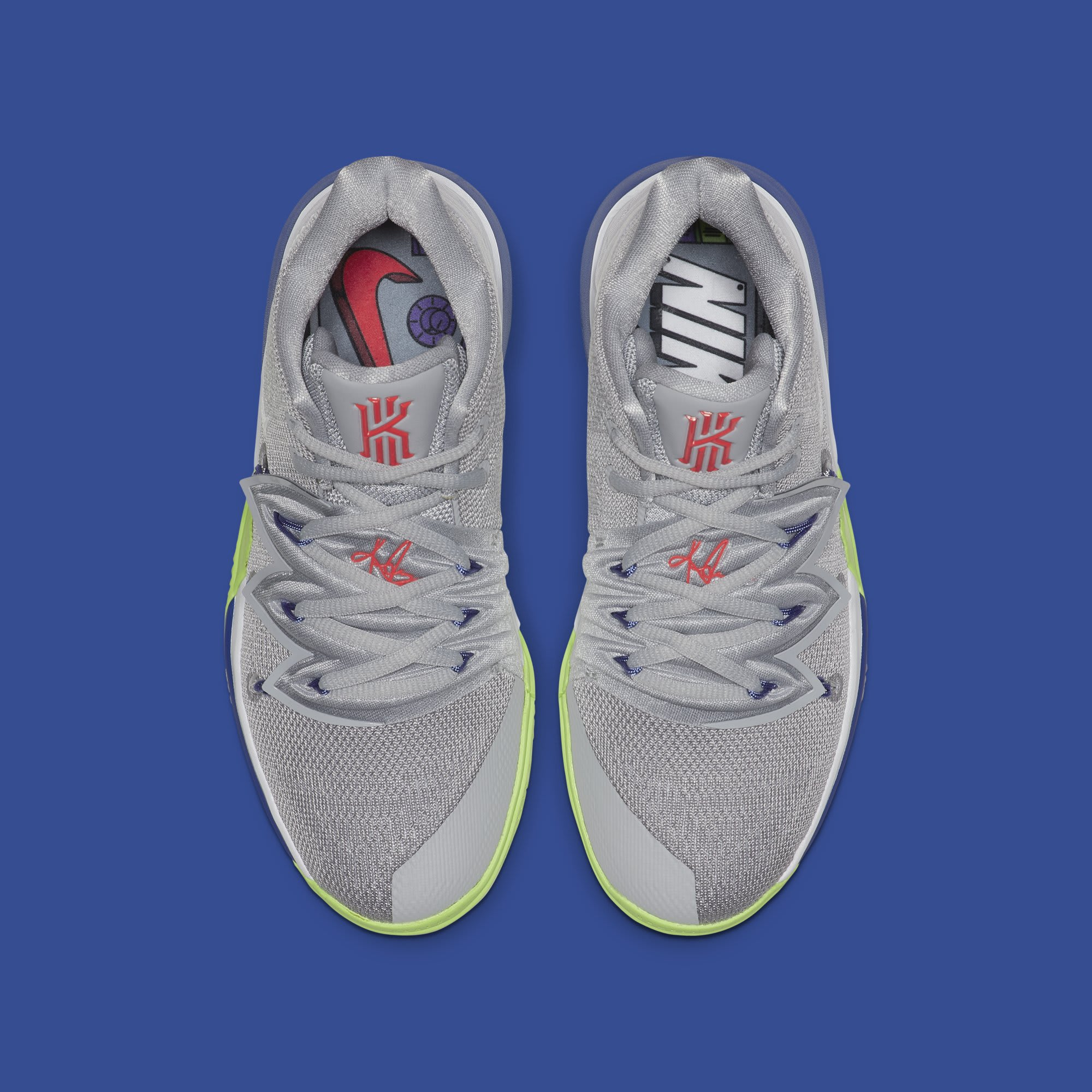 1ed96c11746 Nike Kyrie 5 GS  Wolf Grey White-Lime Blast  AQ2456-099 Release Date ...
