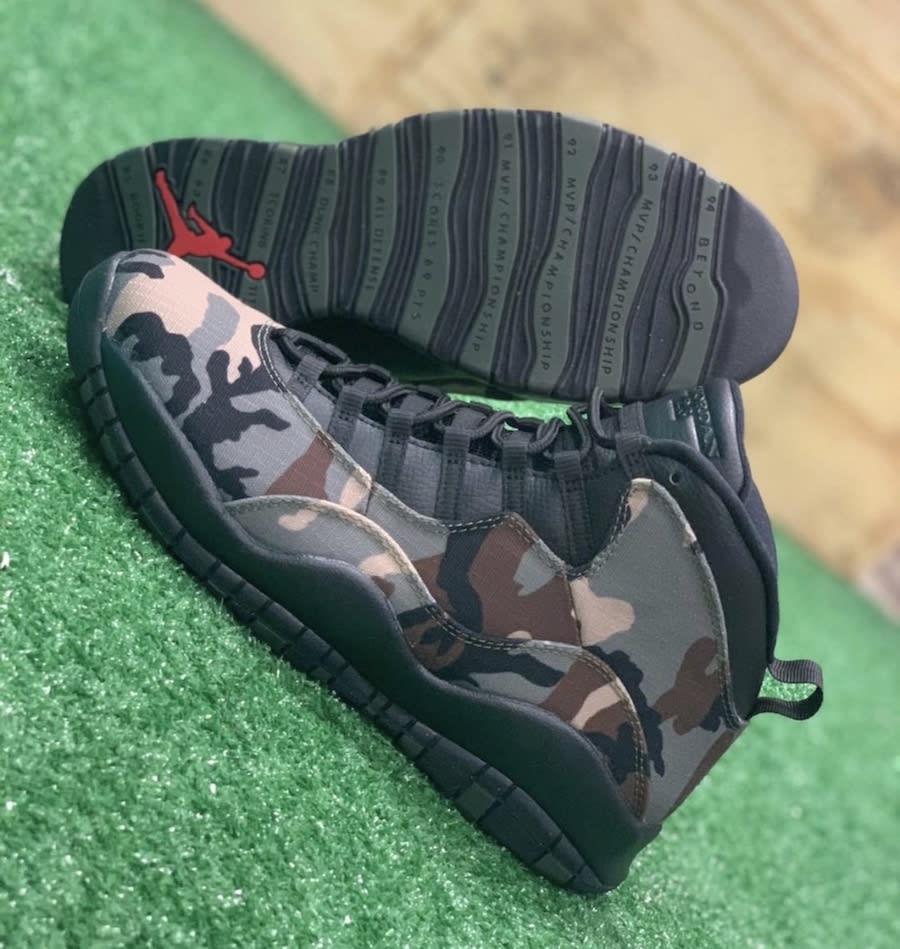 Air Jordan 10 X Desert Camo Release Date 310805-201 Sole