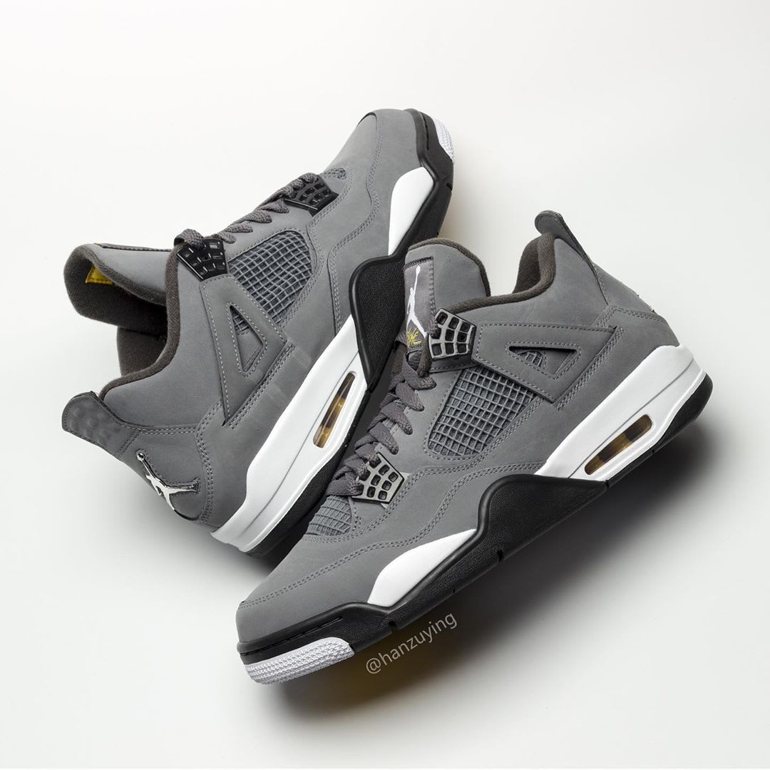 Air Jordan 4 IV Cool Grey 2019 Release Date 308497-007 Lateral Medial