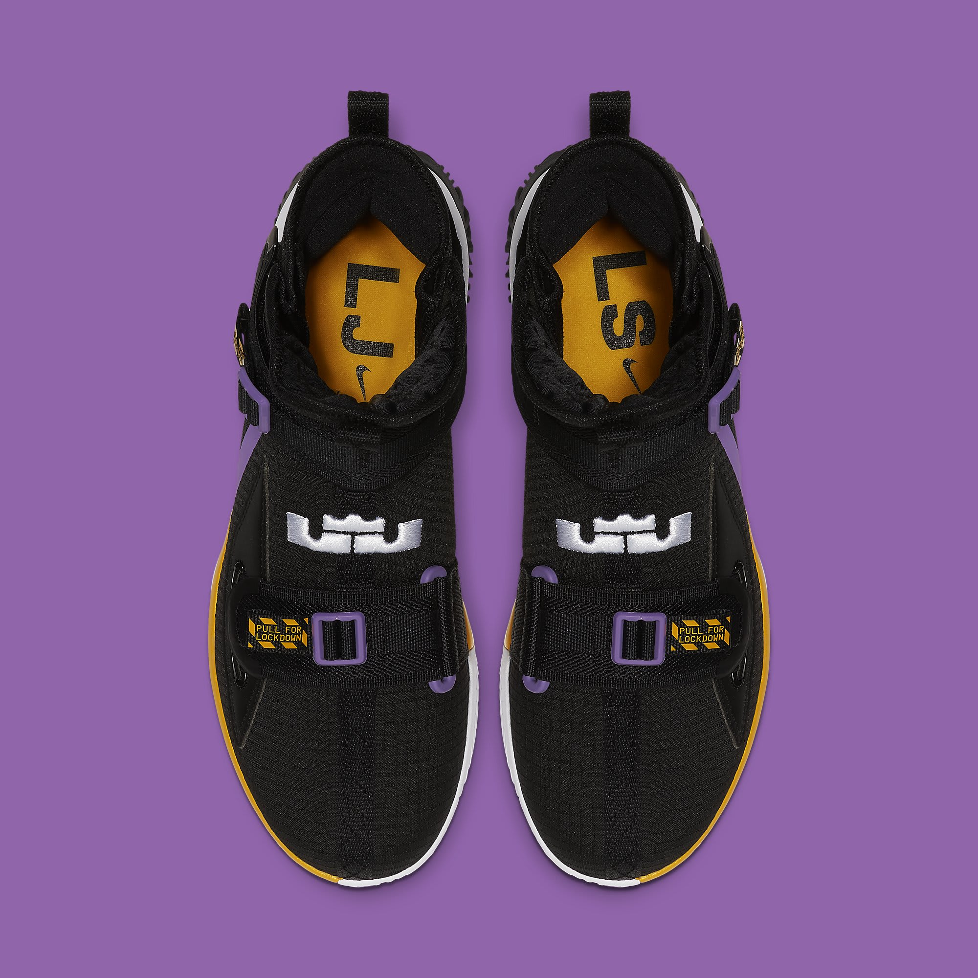 Nike LeBron Soldier 13 Lakers Release Date AR4228-004 Top