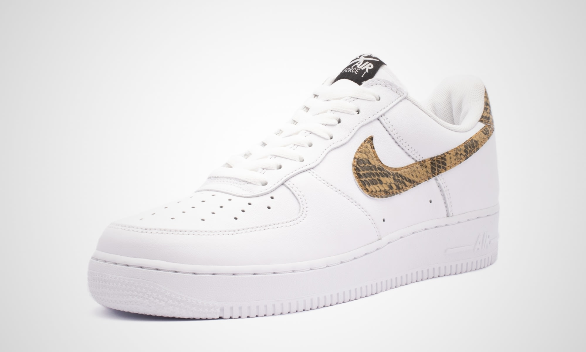 Nike Air Force 1 Low 'Ivory Snake' AO1635-100 (Angle)