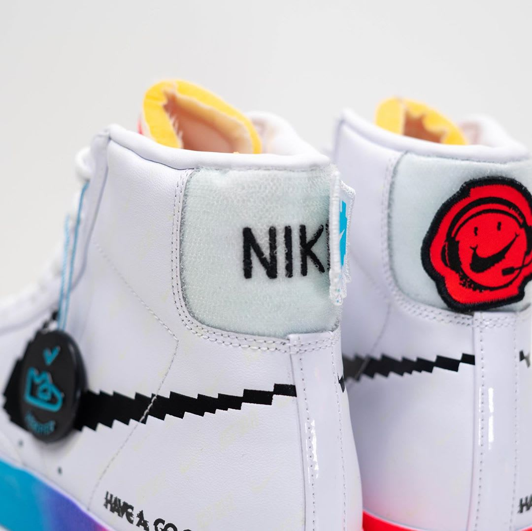 Nike Blazer Mid '77 Vintage 'Have a Good Game' White/White/Bright Crimson/Black DC3280-101 (Heel 2)