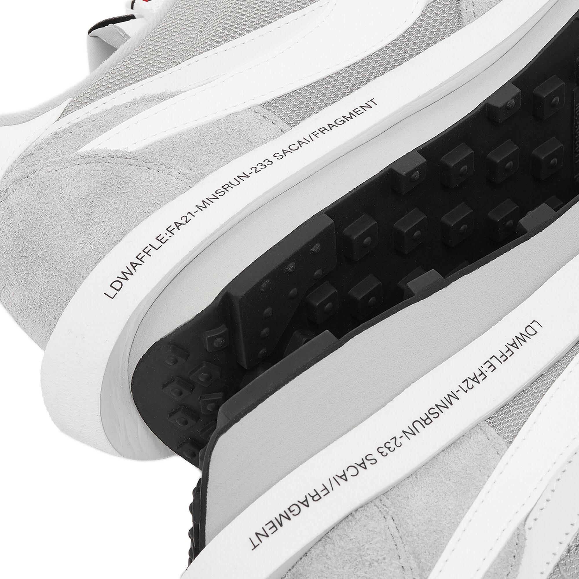 Fragment x Sacai x Nike LDWaffle 'Grey' DH2684-001 Heel