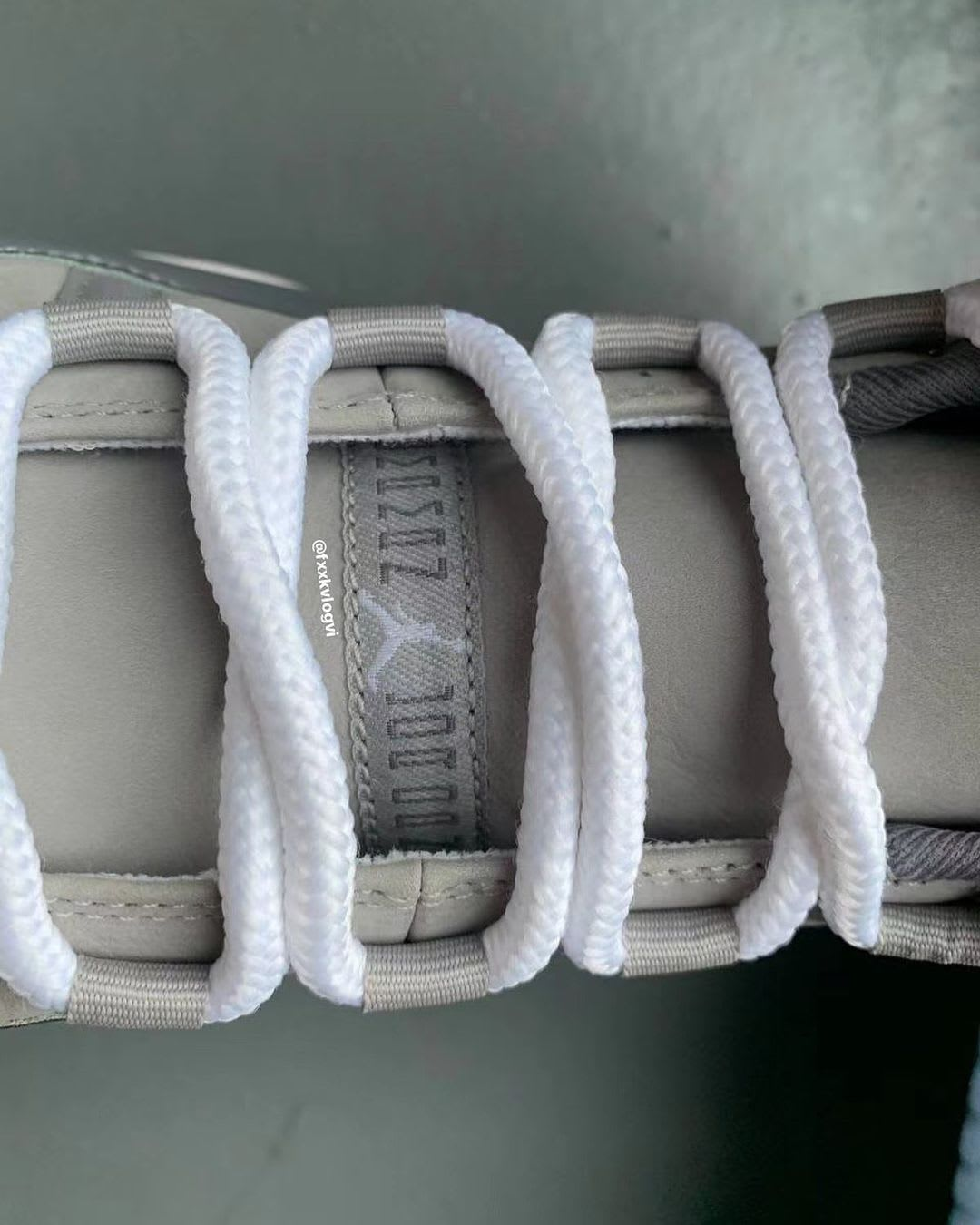 Air Jordan 11 Retro 'Cool Grey' 2021 CT8012-005 Tongue