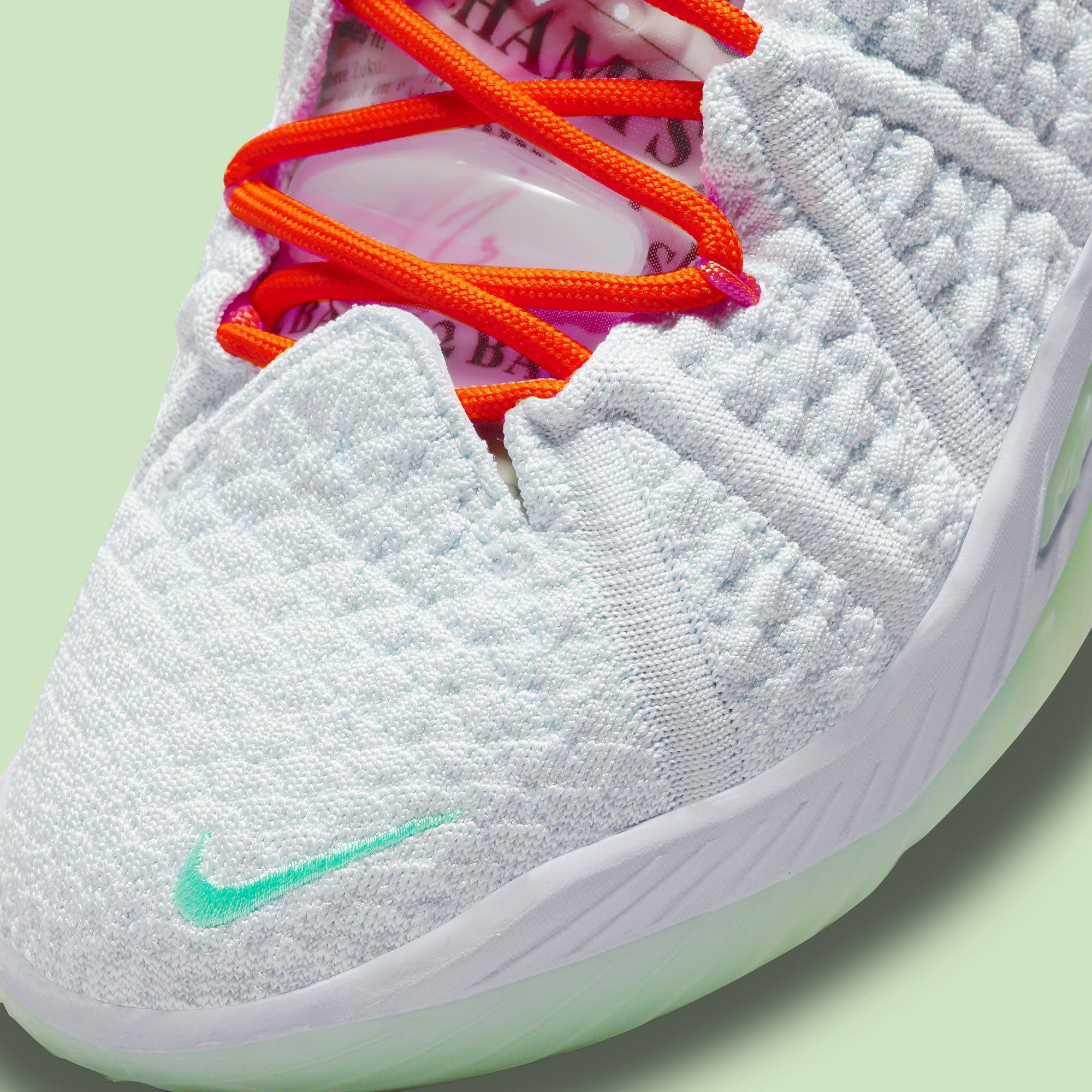 Diana Taurasi x Nike LeBron 18 PE CQ9283-401 Toe