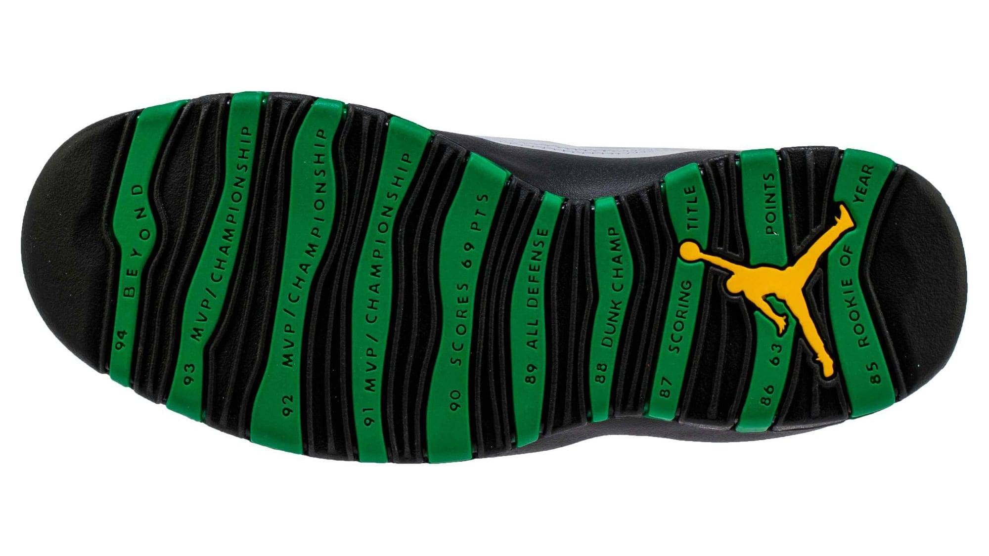Air Jordan 10 Seattle Release Date 310805-137 Sole
