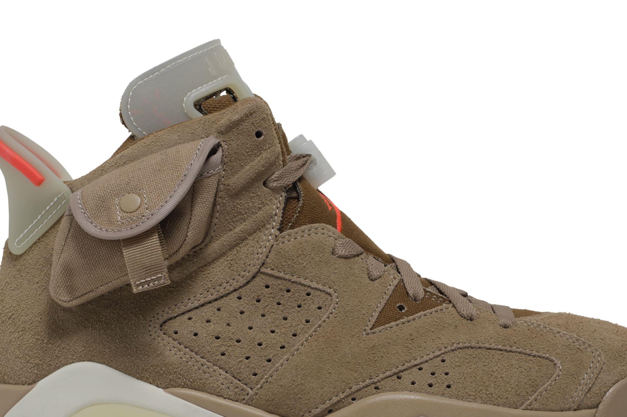 Travis Scott x Air Jordan 6 VI British Khaki Release Date DH0690-200 Pocket