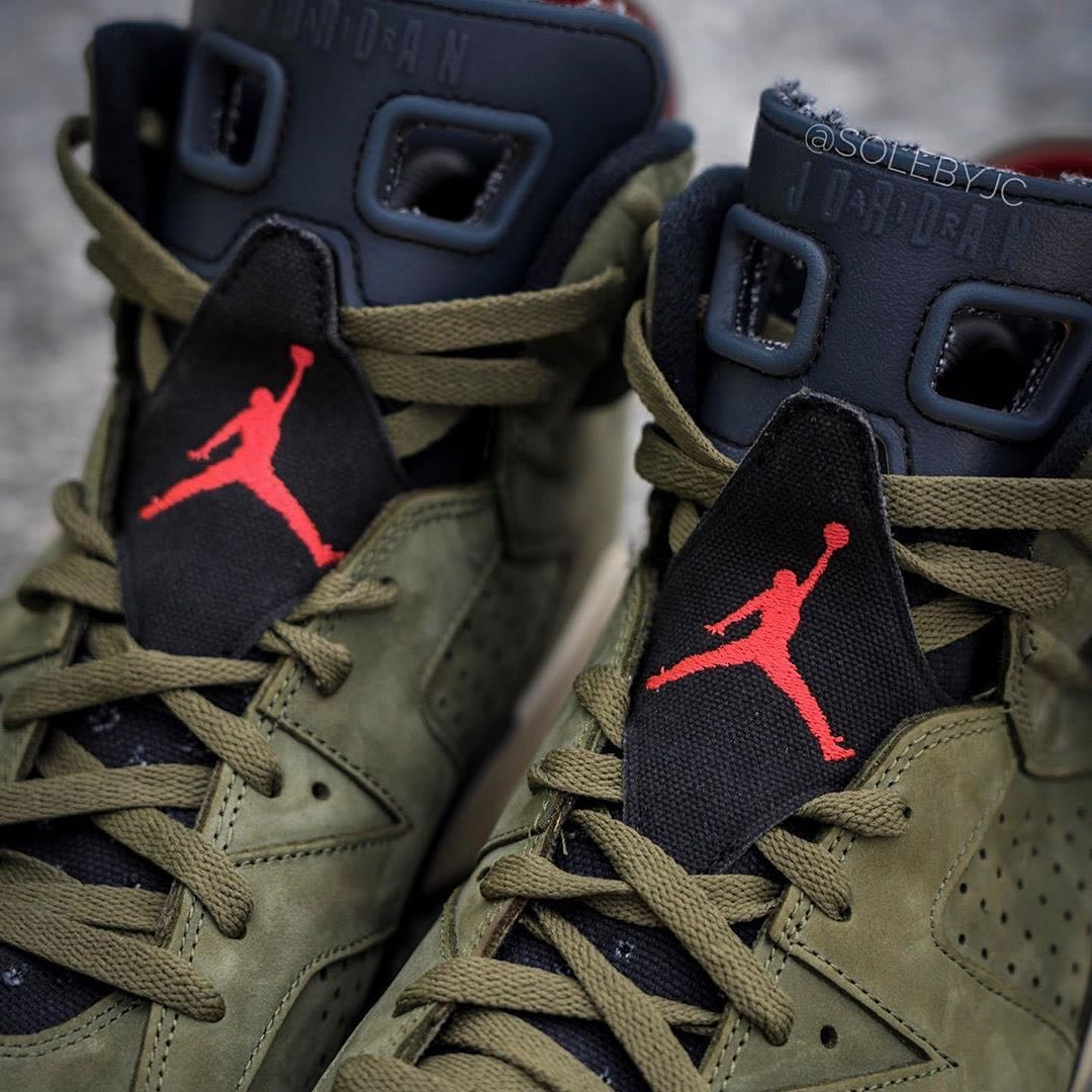 Travis Scott x Air Jordan 6 Release Date Laces