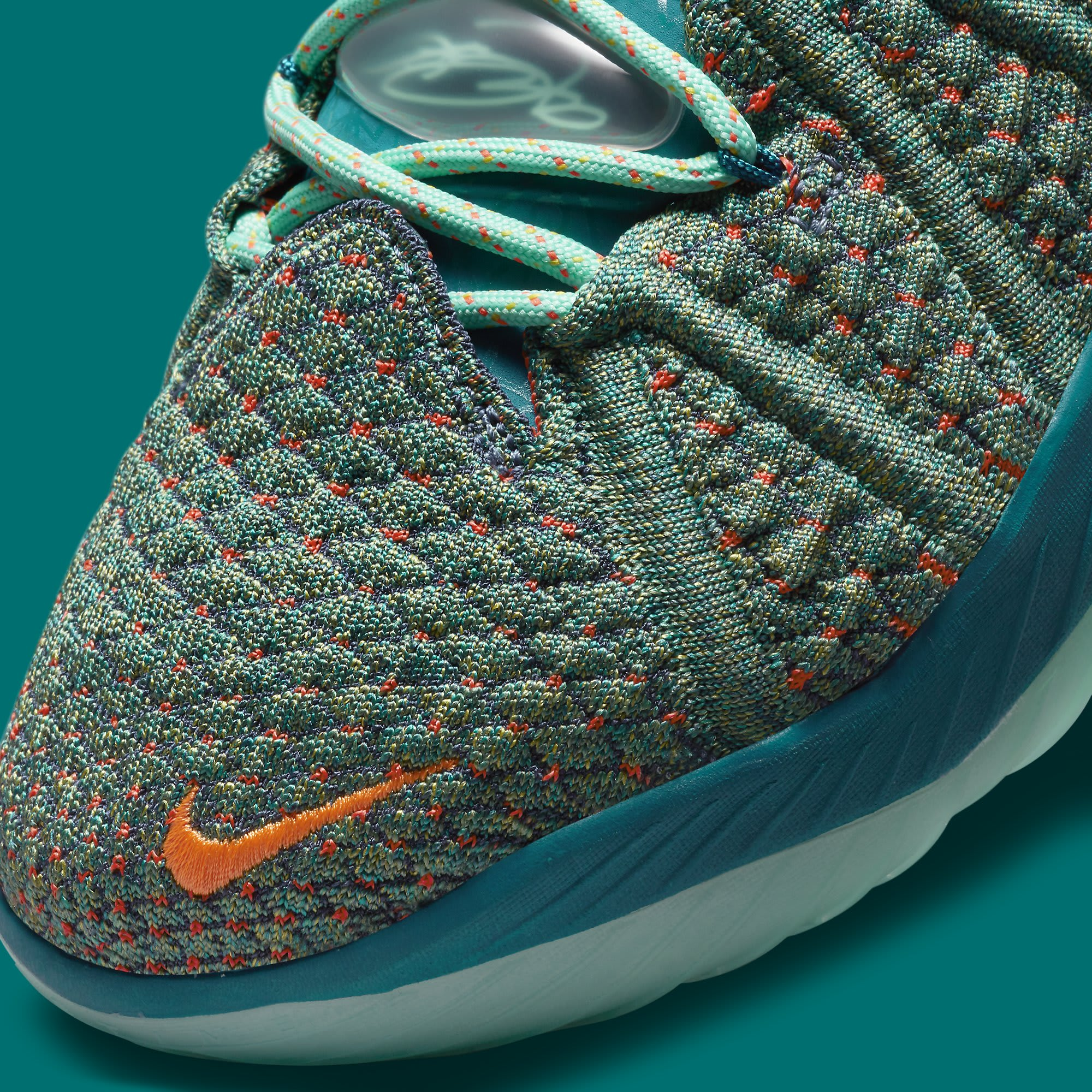 Nike LeBron 18 We Are Family Release Date CQ9283-300 Toe Detail