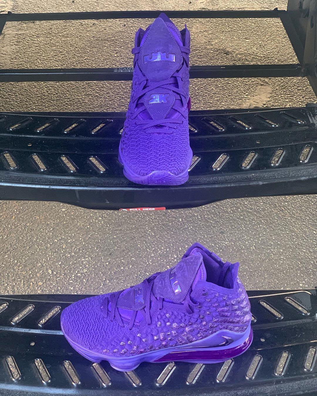 Nike LeBron 17 2K Purple Release Date Front Side