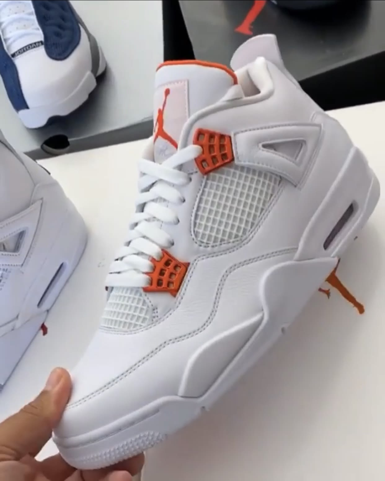 Air Jordan 4 White Metallic Orange Release Date