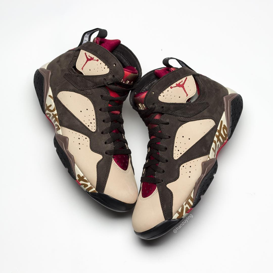 newest 55582 056c0 Image via hanzuying · Patta x Air Jordan 7 SP AT3375-200 Lateral