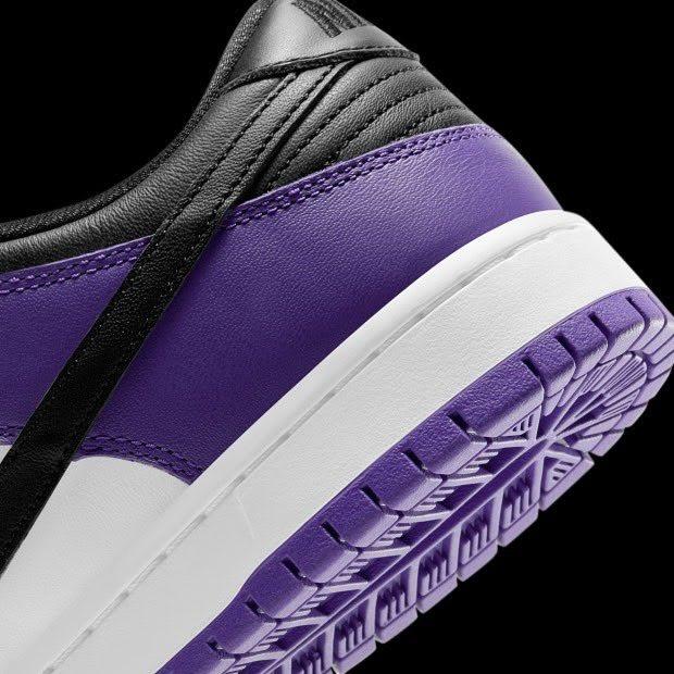 Nike SB Dunk Low Court Purple Release Date BQ6817-500 Heel Detail